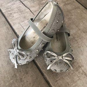 Silver Studded Stuart Weitzman Baby Shoes